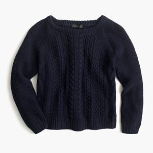 J.Crew Cropped Cable Knit Sweater